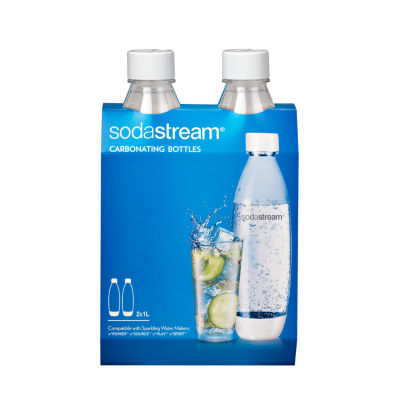 SodaStream™ 1L Slim White Carbonating Bottle Twinpack