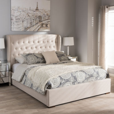 Baxton Studio Penelope Modern and Contemporary Gas-Lift Queen Platform Bed