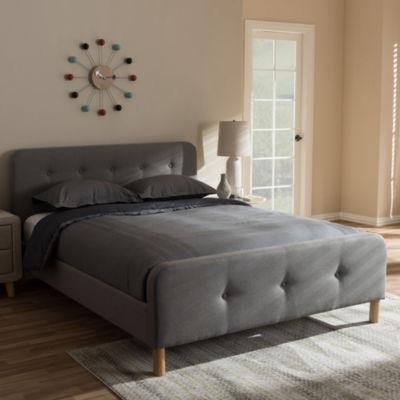 Baxton Studio Samson Mid-Century Upholstered Platform Bed
