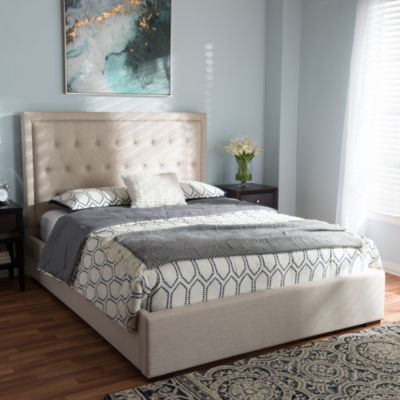 Baxton Studio Taylor Modern and Contemporary Gas-Lift Queen Platform Bed