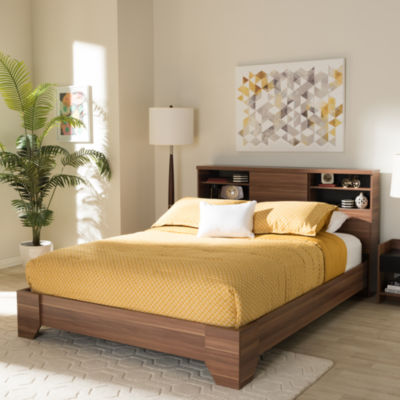 Baxton Studio Vanda Modern and Contemporary Wood Queen Platform Bed