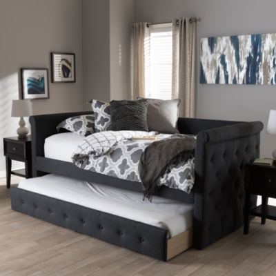 Baxton Studio Alena Modern and Contemporary Daybed with Trundle