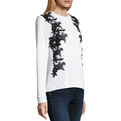 Project Runway Lace Front Sweatshirt