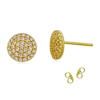 5/8 CT. T.W. White Cubic Zirconia 14K Gold 8.5mm Round Stud Earrings