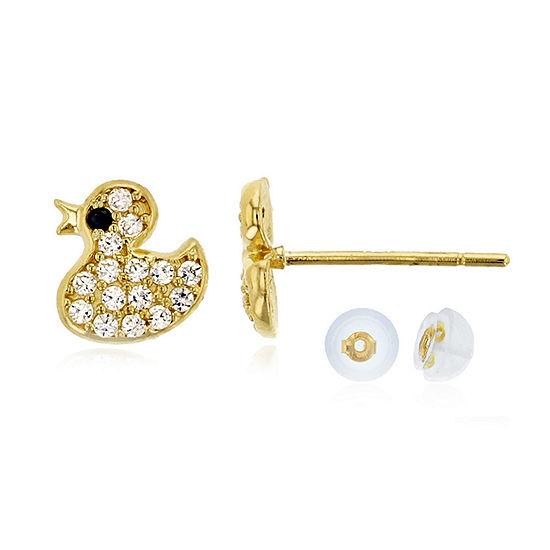 1/4 CT. T.W. Multi Color Cubic Zirconia 14K Gold 6.5mm Stud Earrings