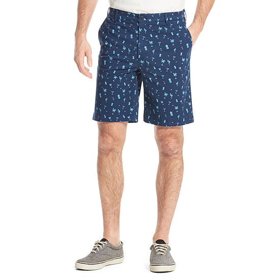 IZOD Saltwater Mens Mid Rise Stretch Pull-On Short