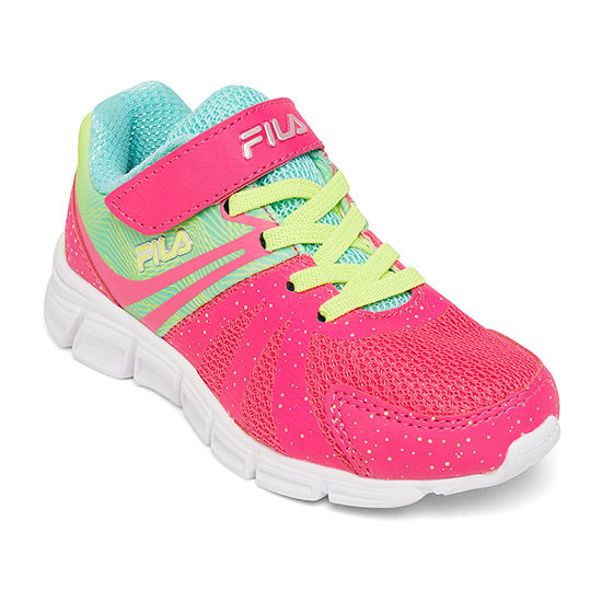 Fila Gammatize Strap Little KidBig Kid Girls Hook and Loop Running Shoes