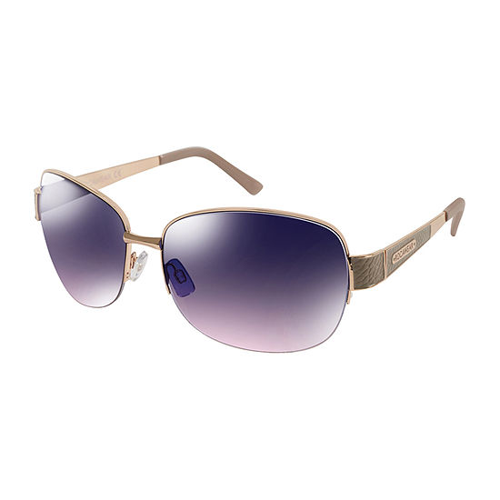 Rocawear Womens Half Frame Rectangular UV Protection Sunglasses