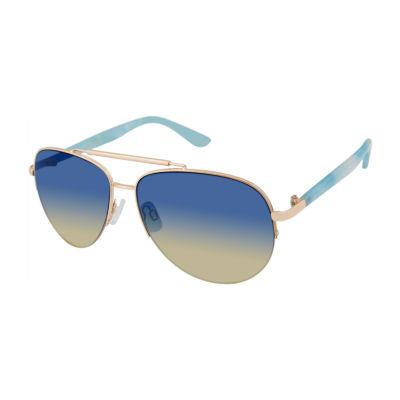 Us Polo Assn. Womens Full Frame Aviator UV Protection Sunglasses