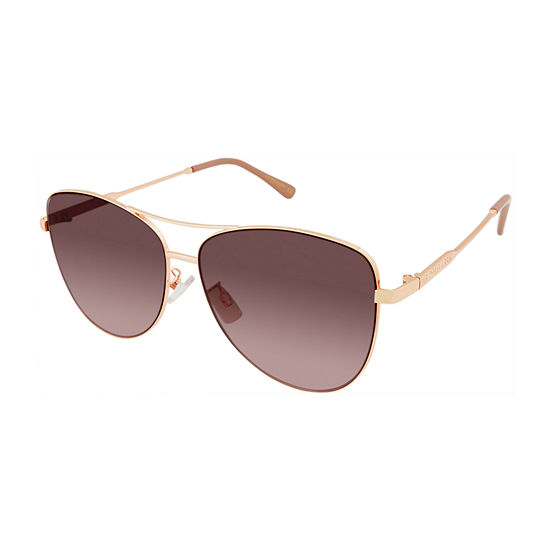 Us Polo Assn. Womens Full Frame Aviator UV Protection Sunglasses