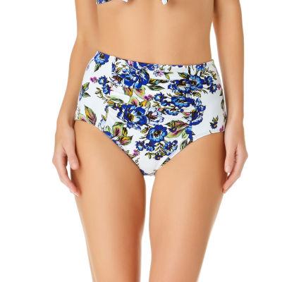 a.n.a Floral High Waist Swimsuit Bottom