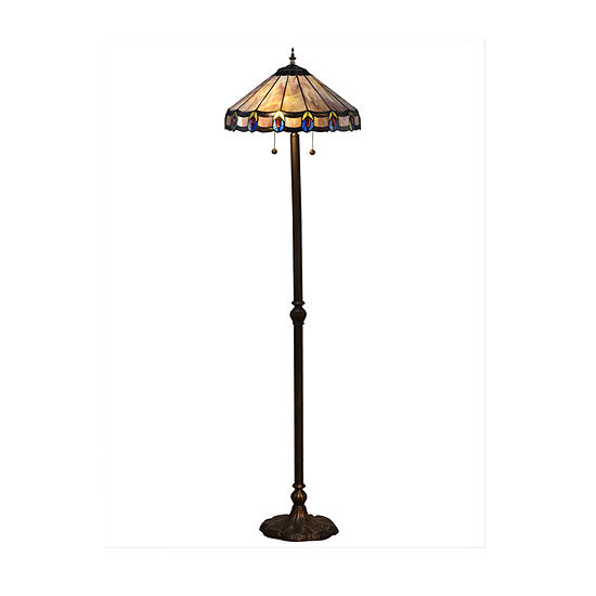 Dale Tiffany Carrington Metal Floor Lamp