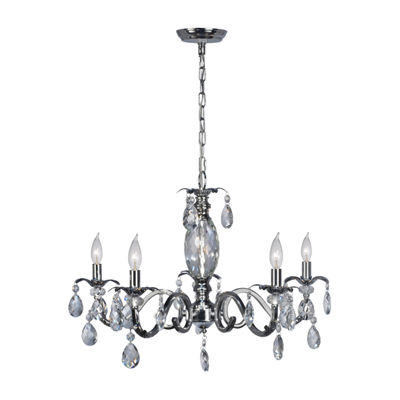 Dale Tiffany Delta Lead Crystal Chandelier