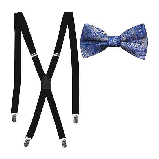 JFerrar Bow Tie and Suspender Set