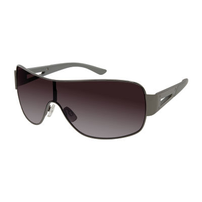 Arizona® Enamel Shield Sunglasses with Open Temple Detail