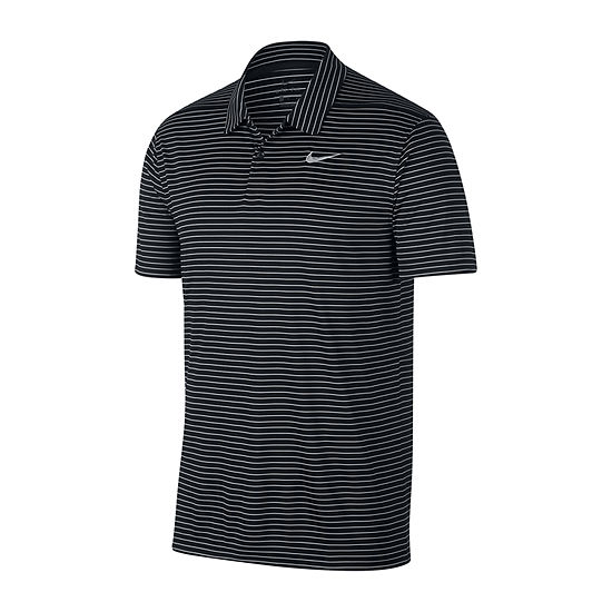 Nike Essential Micro Stripe Mens Short Sleeve Polo Shirt
