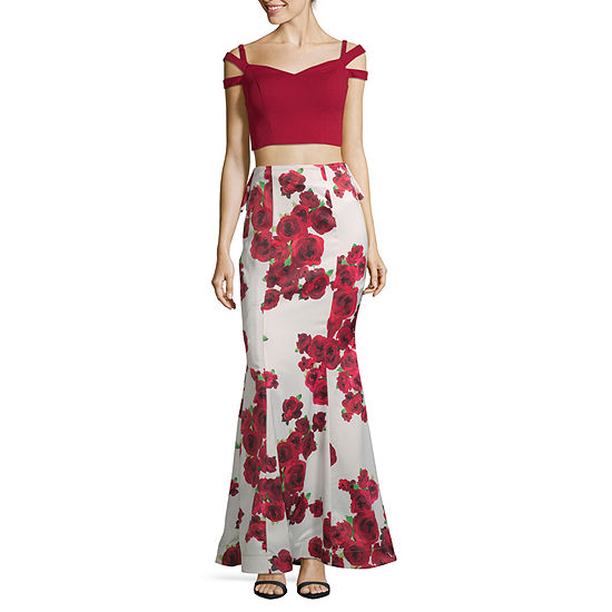 Social Code-Juniors Short Sleeve Dress Set