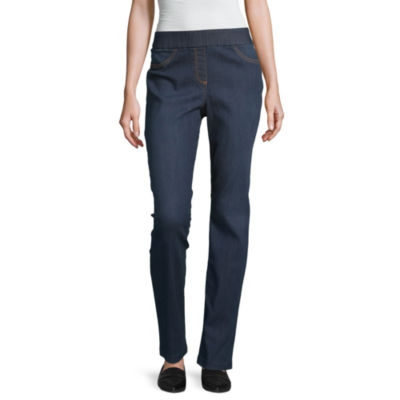 Liz Claiborne Pull On Comfort Stretch Pant - Tall