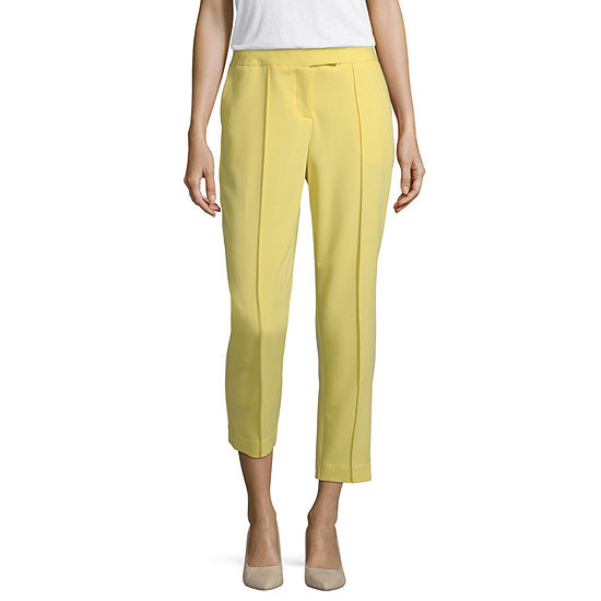 Worthington Pintuck Tab Waist Ankle Pant - Tall