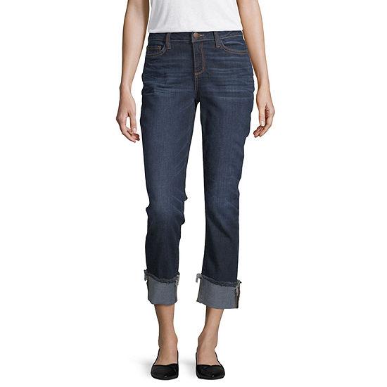 a.n.a Wide Cuff Straight Leg Jean - Tall