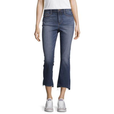 a.n.a Ana High Rise Kick Crop Womens High Waisted Cropped Jean