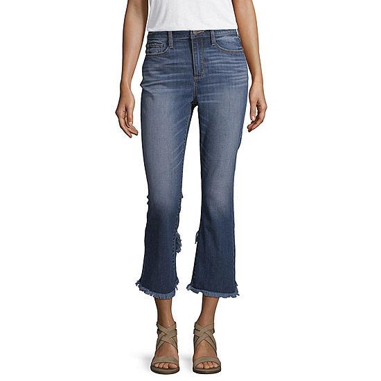 a.n.a Ana High Rise Tulip Hem Kick Crop Womens High Waisted Cropped Jean