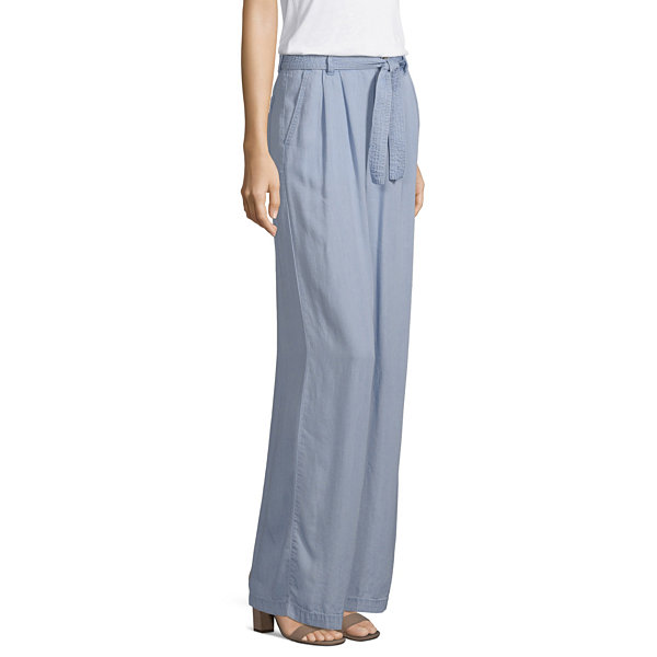 a.n.a Soft Womens Wide Leg Pull-On Pants