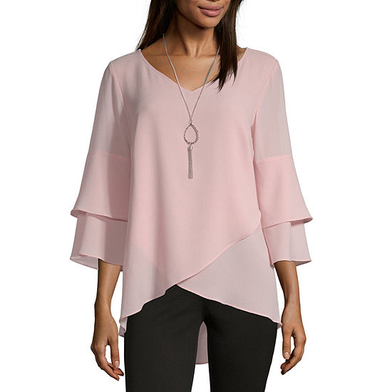 916d22849c5c4b Alyx Womens V Neck 3/4 Sleeve Blouse - JCPenney