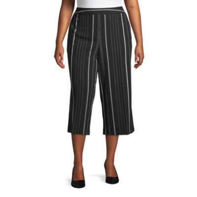 Worthington Pull on Wide Crop Pant - Plus