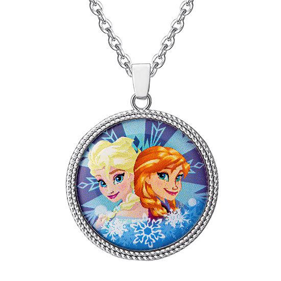 Disney Bronze 16 Inch Cable Round Frozen Pendant Necklace