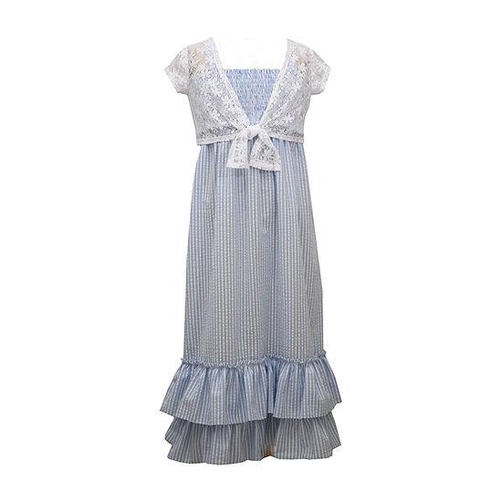 Bonnie Jean Little & Big Girls Sleeveless Striped Maxi Dress
