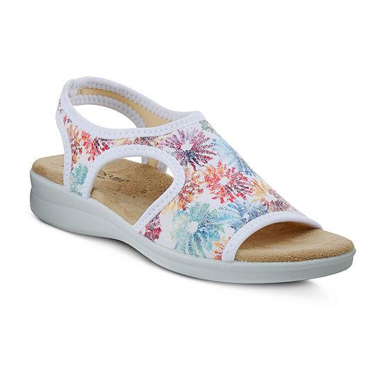 Flexus Womens Nyaman-Crysanth Strap Sandals