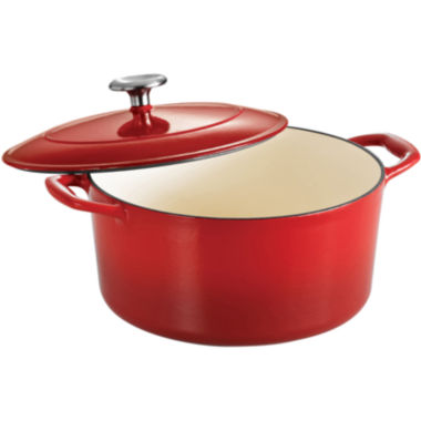 Tramontina® Gourmet 5½-qt. Enameled Cast Iron Covered Round Dutch Oven