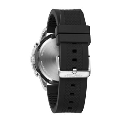 Caravelle New York Mens Black Strap Watch-43a138