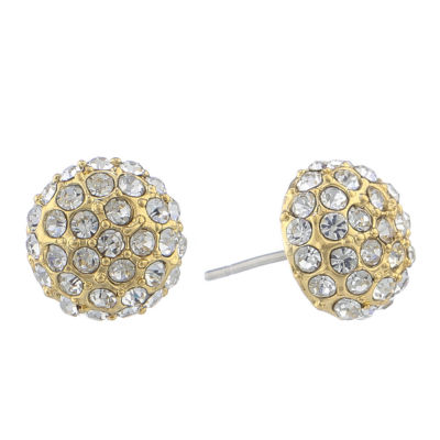 Monet® Pavé Ball Stud Earrings