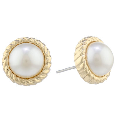 Monet Jewelry 14mm Round Stud Earrings