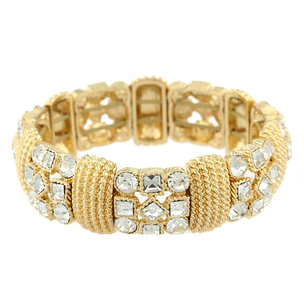 Jcpenney Gold Bracelets: Monet® Crystal And Gold-Tone Stretch Bracelet