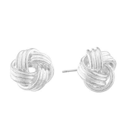 Monet® Silver-Tone Love Knot Earrings