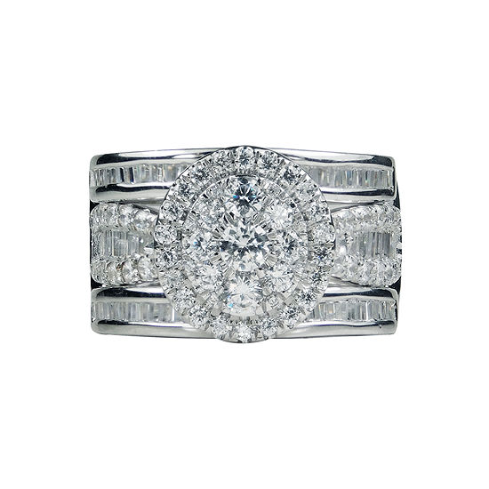 Womens 2 CT. T.W. Genuine White Diamond 14K Gold Bridal Set