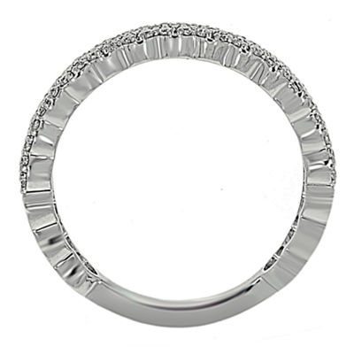 Womens 3mm 3/8 CT. T.W. Genuine White Diamond Platinum Band