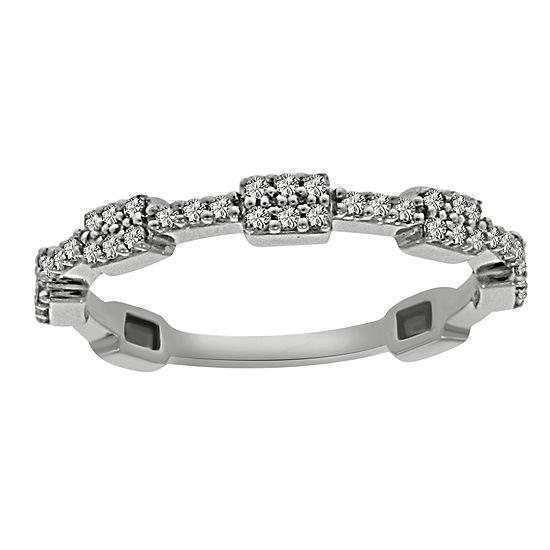 Womens 2mm 1 5 Ct Tw Genuine White Diamond Platinum Band