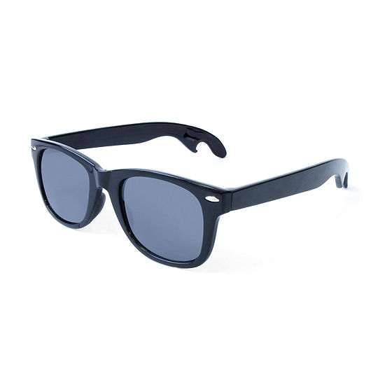 Retro Rectangle Sunglasses with Bottle Opener