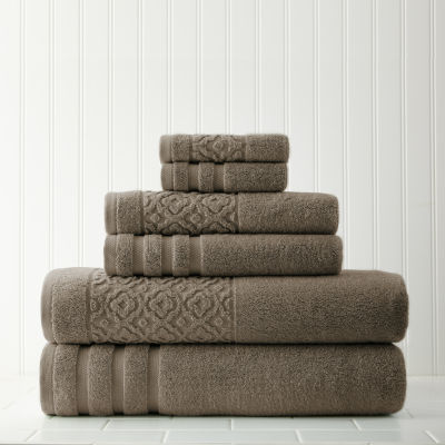 Pacific Coast Textiles Trellis Jacquard  6-pc. Bath Towel Set