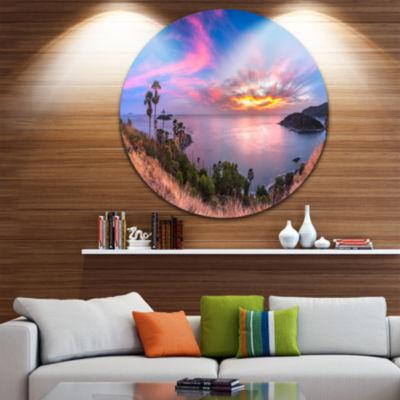 Design Art Promthep Cape Best Phuket View Point Extra Large Seashore Metal Circle Wall Art