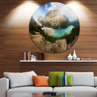 Design Art Peyto Lake Glacial Panorama Landscape Print Wall Artwork
