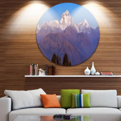 Design Art Snowy Dhaulagiri Peaks Himalayas Landscape Print Wall Artwork