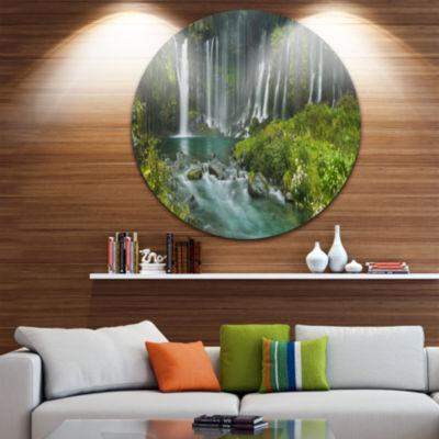 Design Art Shiraito Falls near Mount Fuji Japan Landscape Print Wall Artwork