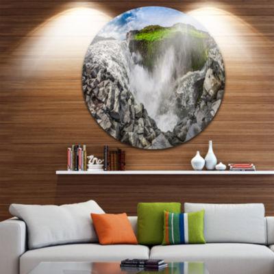 Design Art Rocky Dettifoss Waterfall in Iceland Landscape Print Wall Artwork