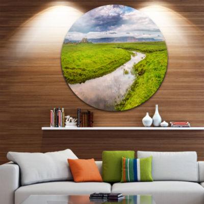 Design Art Fantastic River on Mountains Iceland Landscape Print Wall Artwork