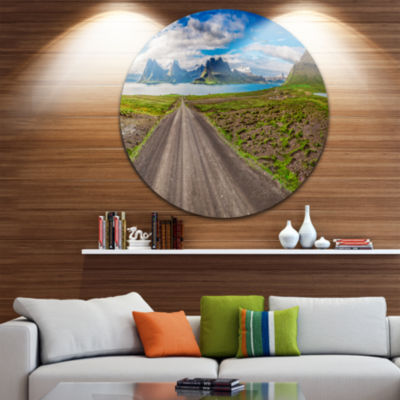 Design Art Peaks and Fjords Panoramic View Landscape Print Wall Artwork